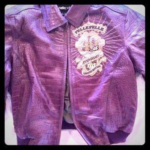 Beautiful purple leather jacket by PELLE PELLE.